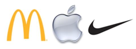 McDonalds, Apple and Nike logos